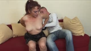 A cougar who enjoys fucking with a young guy