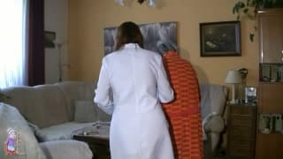 An old granny fucking with her nurse on duty