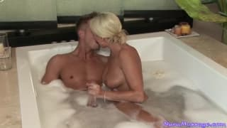 Diana Doll gets herself sticky with a client