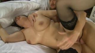 A brunette milf enjoys an anal penetration