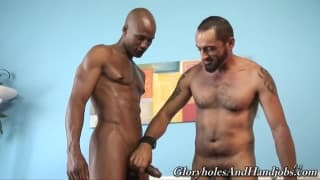 Tom Colt has a lot of fun with Bill Long
