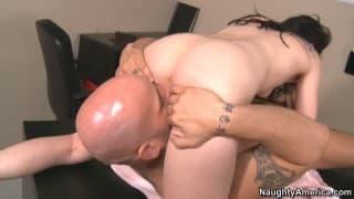 Young brunette student enjoys her teachers hard cock