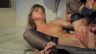 Doris Ivy is nailed violently on the couch