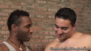 This black guy is pleasured today by a friend