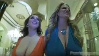 Two busty women get fucked by the same guy