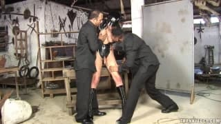 Bruna Rodrigues fucks two guys hard!
