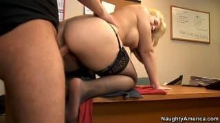 Sarah Vandella is the secretary of pleasure