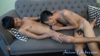 Asian twinks having fun on camera!