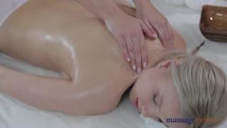 Porn with two women enjoying massage