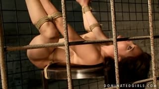 A scene of bondage and domination
