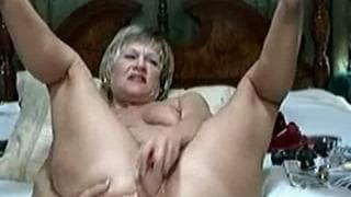 This mature blonde is showing her body on cam