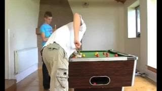 Gay love at first sight while playing pool