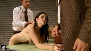 Angell Summers and Melyssa enjoy domination