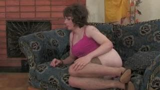A gay guy dressed as a woman gets sodomized