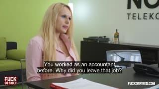 She has an option to keep her job