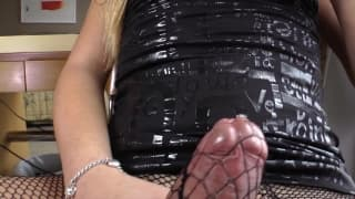 Josiane loves to feel her cock getting hard