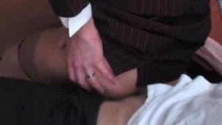 A young man fucks a transvestite