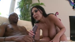 Bella Blaze likes sex with this black guy