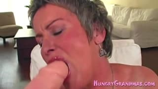 This grandma is hungry for a hard cock