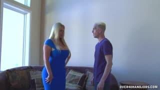 The postman enjoys a sensual fat woman