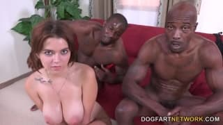 Marina Visconti has two black dicks today