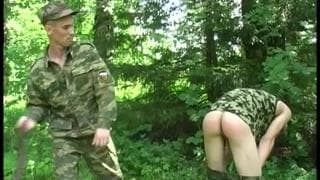 Two young soldiers are on a mission to fuck