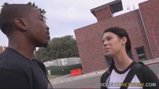 Brooklyn Rose fucks this black guy nonstop