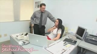Rachel Starr is a really sexy secretary!