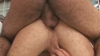Two muscular friends enjoy some anal sex!