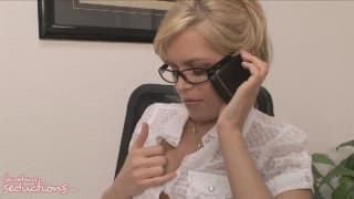She is a horny secretary fucking her boss
