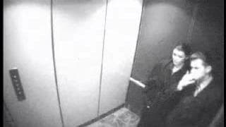 A sneaky blowjob in the elevator!