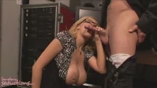 Katie Kox gets a creampie from Jack Vegas