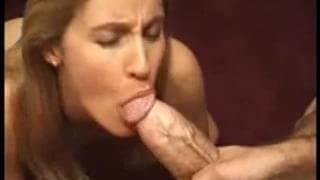 A very cute milf sucking a dick