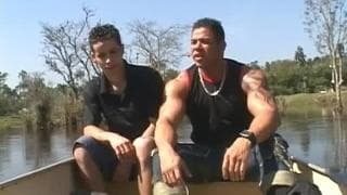 Two sexy Latino's have sex outdoors