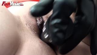 Jana Puff fucks herself with a dildo