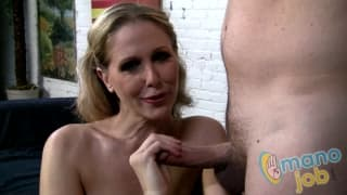 Julia Ann gives the best handjob