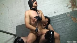 Foxi loves to dominate her man on camera