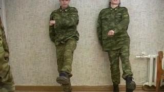 Two army men who are desperate for pleasure