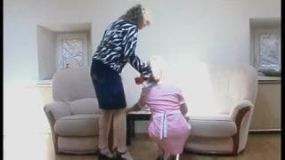 This old woman wants to fuck the maid