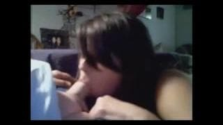 A luscious amateur gives a nice blowjob!