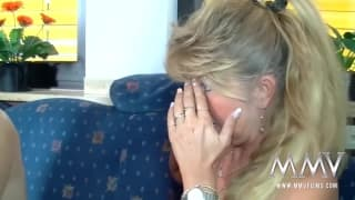 Petra Wegat has a good time in a threesome