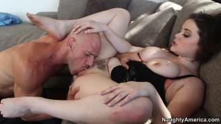 Tessa Lane uses her big tits for pleasure