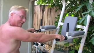 Watching a mature man jerking off outdoors