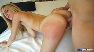 This busty blonde enjoys a vaginal drilling