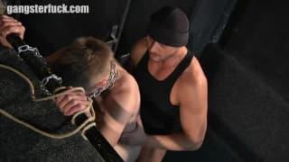 A well-hung man enjoys a blowjob