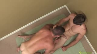 A muscular gay guy is well fucked today