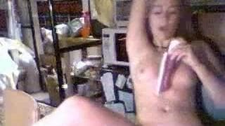 A blonde in action on her webcam!