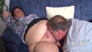 Mature woman is fingered and fucked