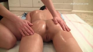 Very delicate massage for Jacqueline Anare