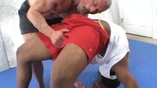A gay couple in some interracial action